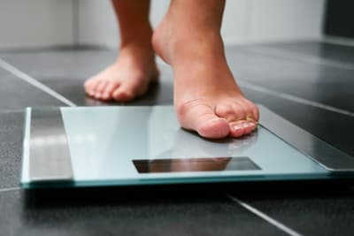 photo of foot on scale