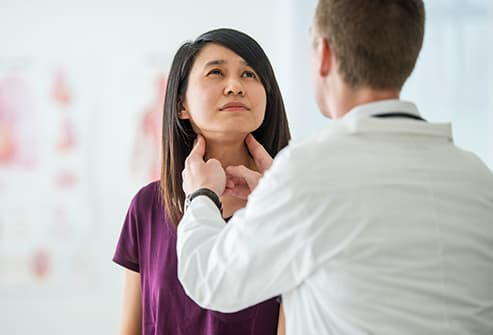 Thyroid exam