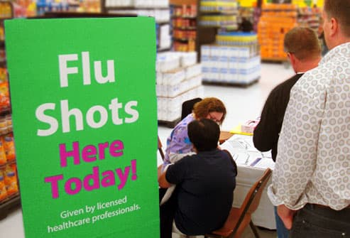 Superstore flu shot line