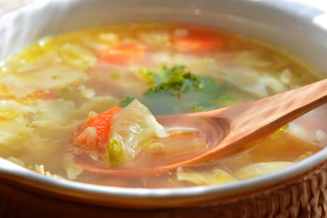 photo of cabbage soup