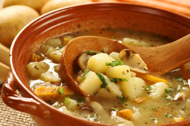 photo of potato soup