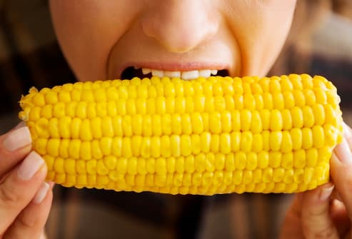 Eating corncob