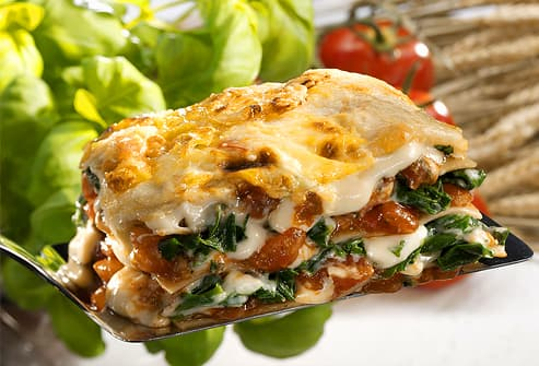 Serving of vegetarian lasagna