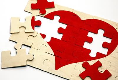 incomplete heart puzzle