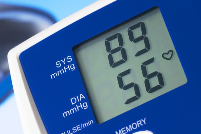 low blood pressure readout