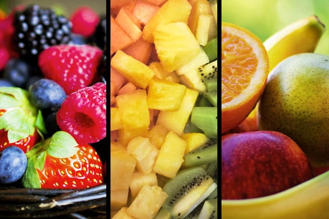photo of fruit triptych