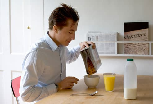 Man Eating Healthy Breakfast
