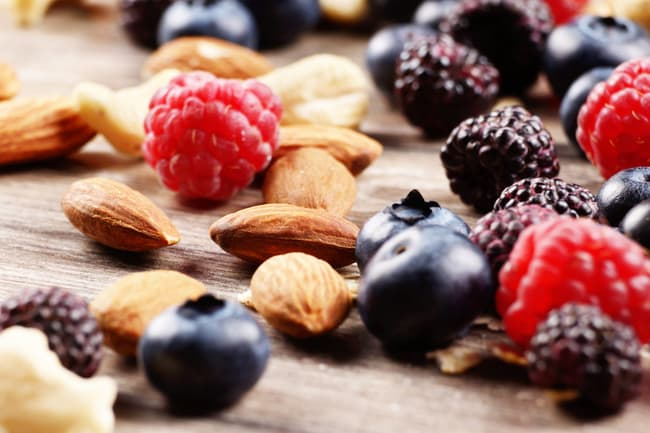 photo of berries and nuts