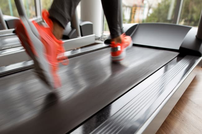 photo of running on treadmill