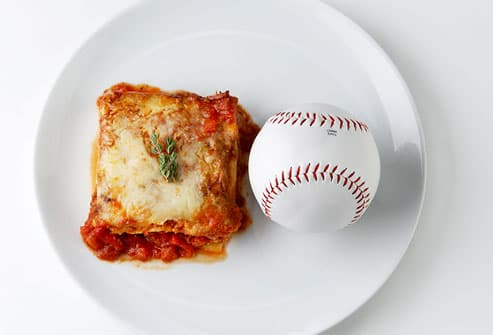 Lasagna vs. Baseball