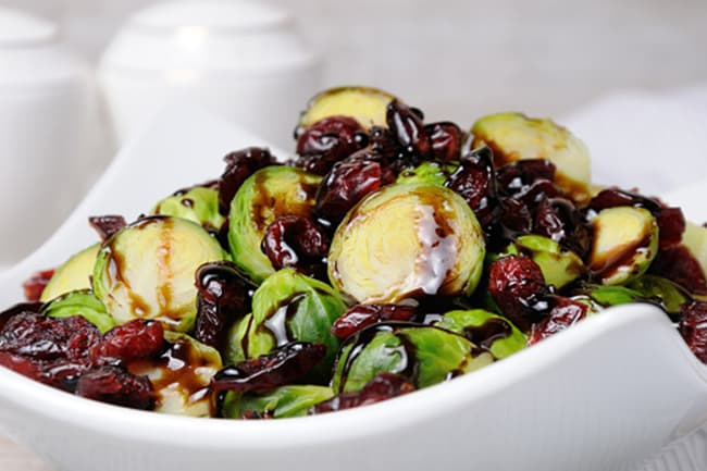 photo of brussels sprouts with cranberries