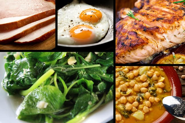 iron and vitamin b12 foods montage