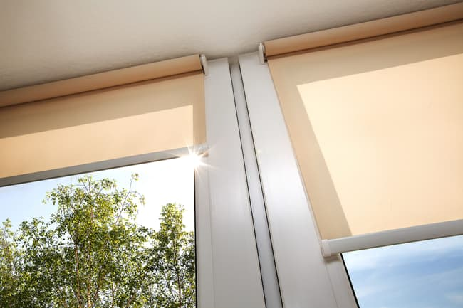 photo of window shades
