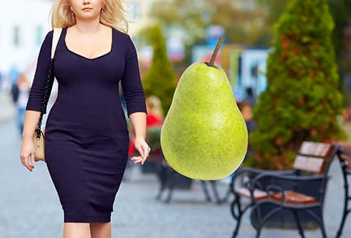 woman with pear shaped body