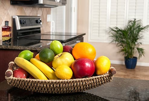 fruit bowl in kitchen
