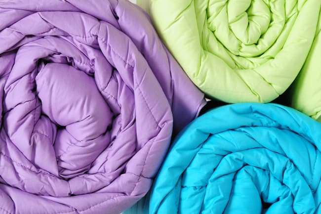 colorful duvets
