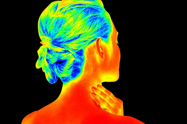 thermal image of woman