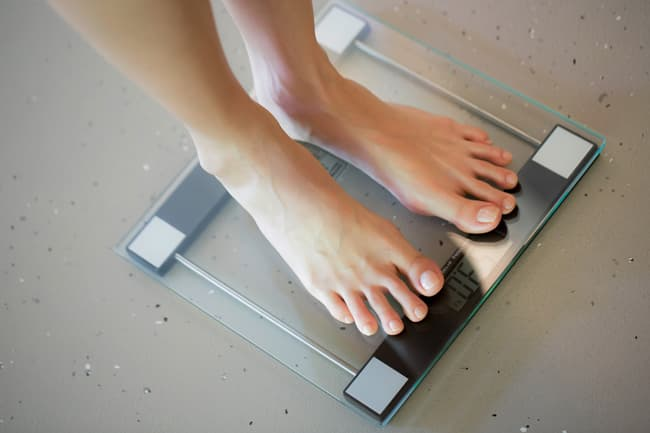 photo of person on scale