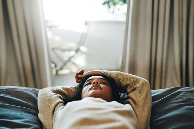 photo of woman napping