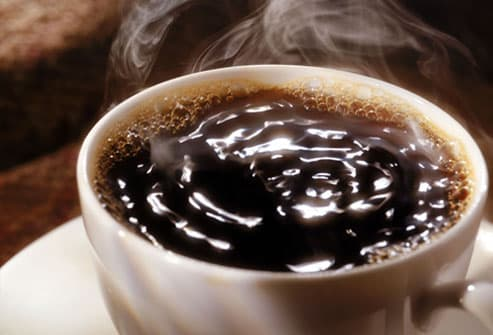 Piping hot cup of coffee