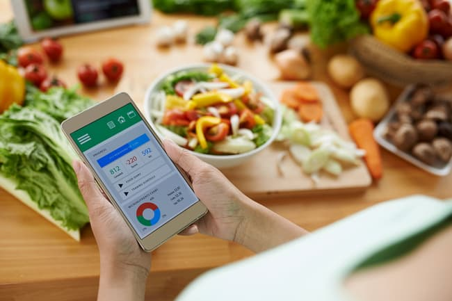 photo of calorie tracking app