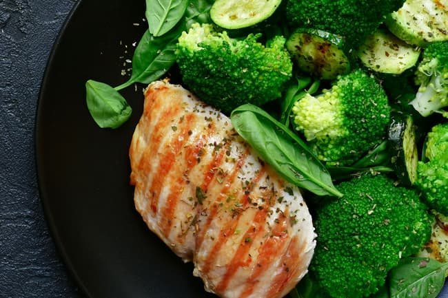 photo of fish and vegetables