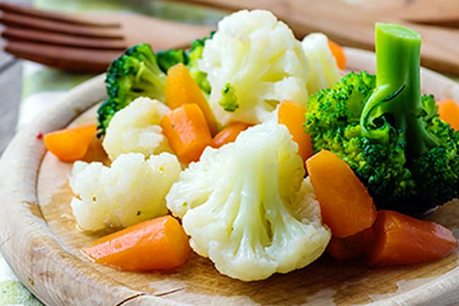 photo of steamed veggies