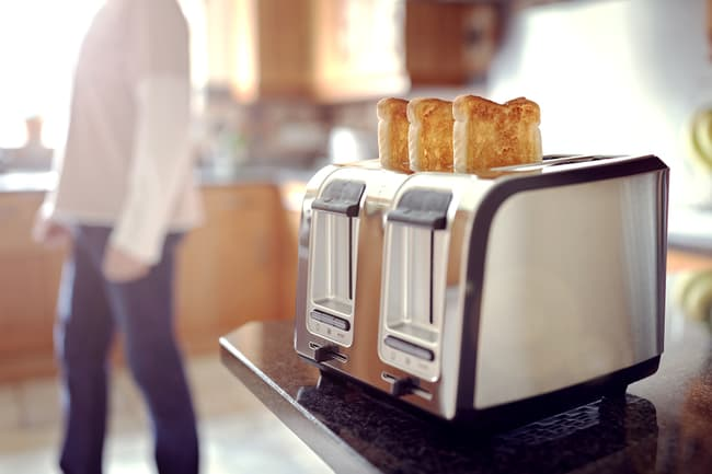 photo of toast in toaster