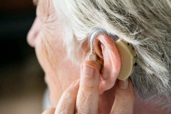 photo of hearing aid