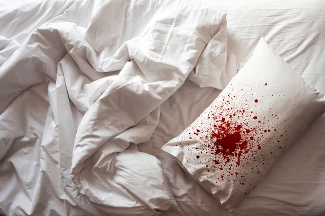 bloody pillow
