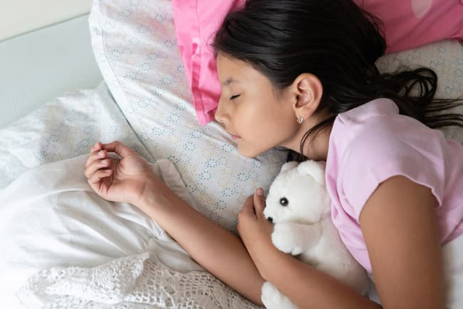 photo of girl sleeping