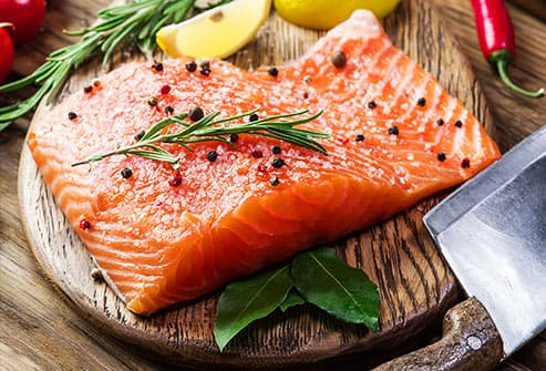 raw seasoned salmon