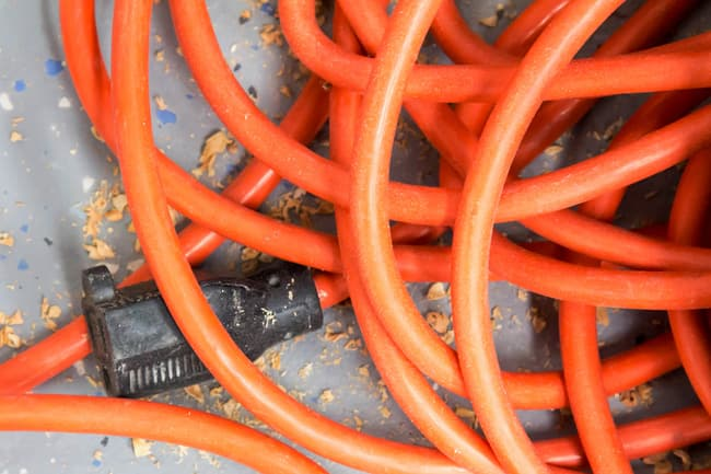 extension cord close up