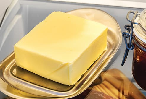 stick of butter in refrigerator