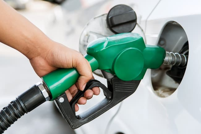 photo of pumping gas