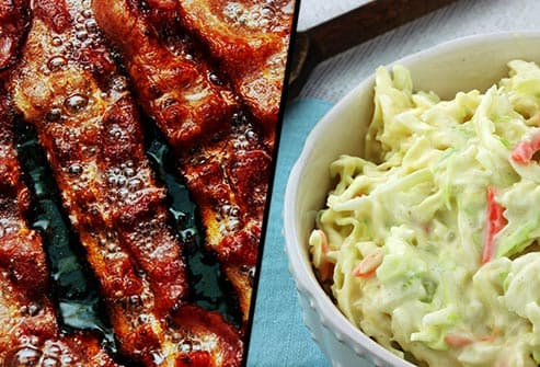bacon and coleslaw
