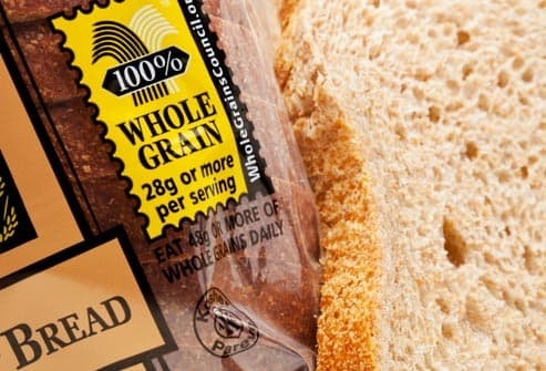 whole grain label on bread