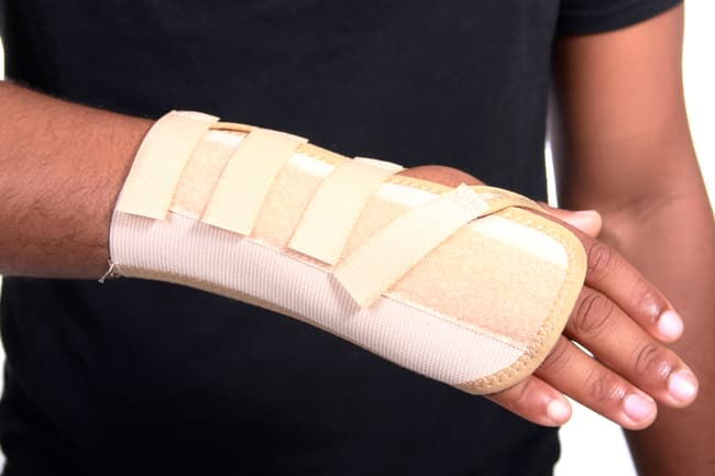 photo of wrist splint
