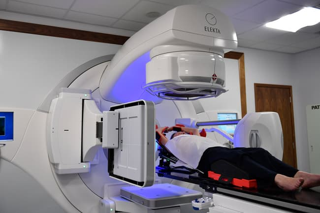 photo of radiotherapy of breast