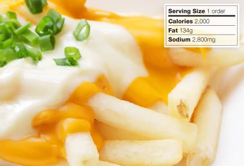 cheese fries calories