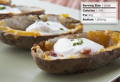 Potato skin appetizers