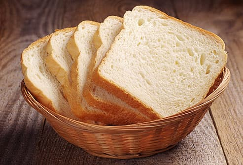 white bread in basket