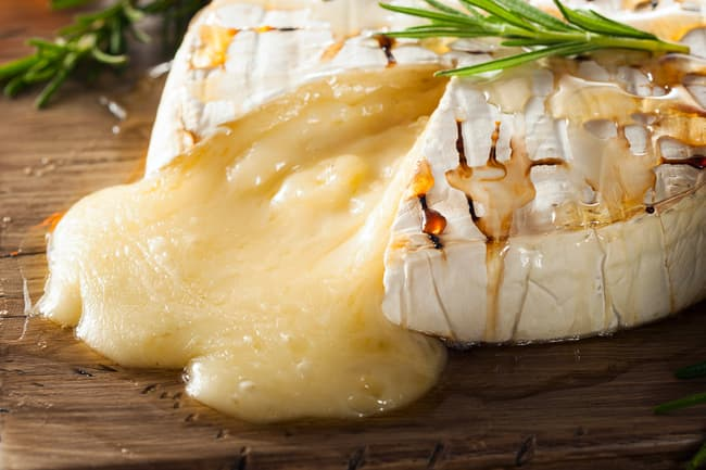 photo of warm brie