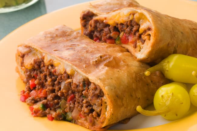 photo of beef chimichanga