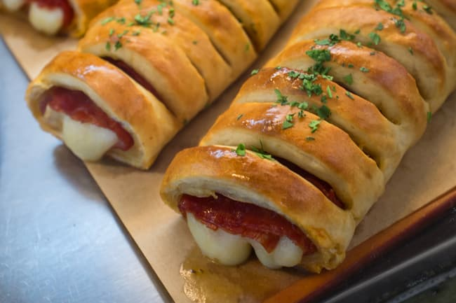 photo of pepperoni stromboli
