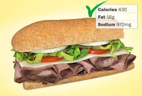 photo of blimpie roast beef sandwich
