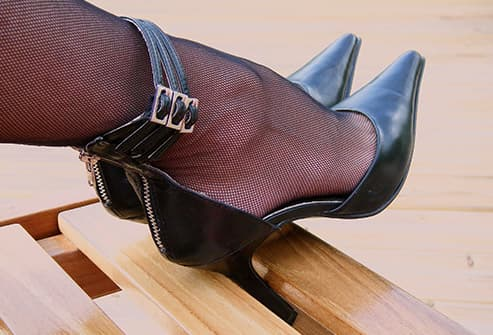 photo of heels with pointy toes