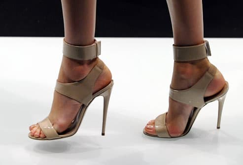 Stiletto heels on runway