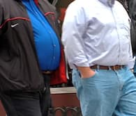 two overweight men