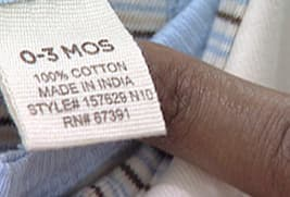 baby clothes tag